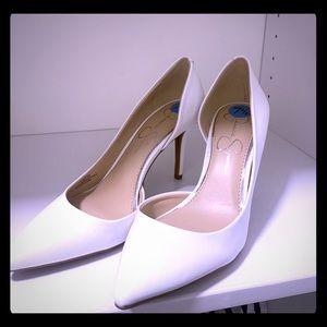 Jessica Simpson white leather classic pump NWT